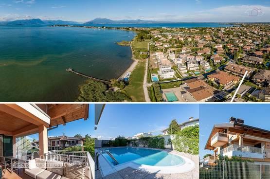 3 Zimmer Wohnung , Terrasse mit Seeblick, Pool, Gardasee Sirmione